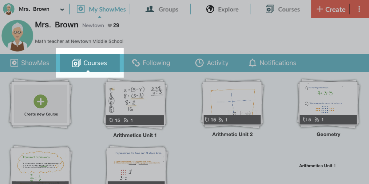 ShowMe Premium: Stay Organized with Courses